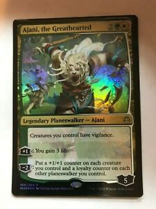 1x FOIL Ajani the Greathearted War of the Spark MtG NFC Non-Factory Cut