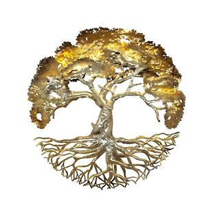 TREE OF LIFE wall sculpture metal art home wall decor contemporary Masterpiece