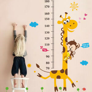 Waterproof Height Chart Measure Wall Sticker Decal for Kids Baby Room Giraffe