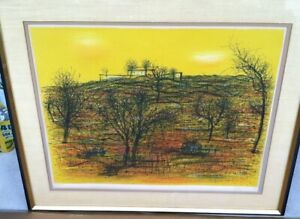 Jean Carzou 1963 Signed Numbered 98150 Colored Lithograph Titled The Villa