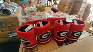 LOT OF 20 NCAA UNIVERSITY OF GEORGIA BULLDOGS WOOLIE KOOZIES (NEW WITH TAGS)