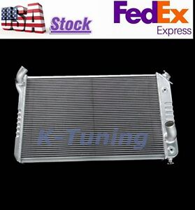 POLISHED 3 ROWS ALUMINUM RADIATOR FIT CHEVY CORVETTE V8 Base Convertible KKS