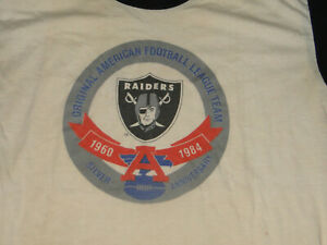Vintage t shirt RAIDERS FOOTBALL ANNIVERSARY 1984 Sz L $79.99