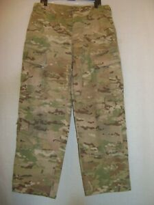 MENS US ARMY MedXL FLAME RESISTANT BUTTON FLY CAMO COMBAT UNIFORM TROUSERS
