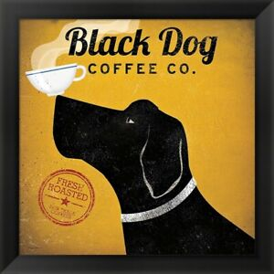 quot;Black Dog Coffee Co.quot; by Ryan Fowler Framed Art 16x16