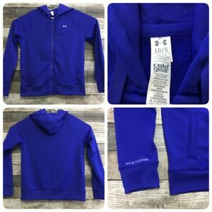 Under Armour Storm Cold Gear Hoodie Women's L Blue (B4) Semi Fitted EUC!
