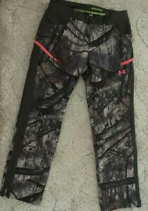 Under Armour Speed Freek Infrared SC Camo Mossy Oak Hunting Pants Bibs 6 Womens
