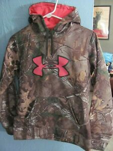 Under Armour Women's Small Semi-Fitted Realtree Camo & Pink Hoodie Sweatshirt