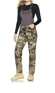 Under Armour UA Brow Tine STORM Forest Camo Hunting Pants Bibs M Women 1316697