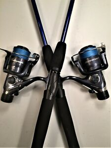 Two Durango 6½' Blue Spinning Rod and Spinning Reel (Blue Braid) Combos
