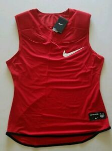 NWT Nike Dri-Fit Men's XL Red The Opening Padded Shoulder Football Shirt 835345