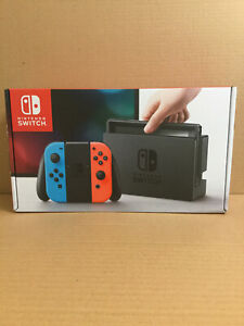 Nintendo Switch 32GB Console with Neon Red & Neon Blue Joy-Con includes 3 games