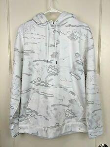 Under Armour White Camo Loose Fit Hoodie Pullover Sweatshirt Men's Size: M