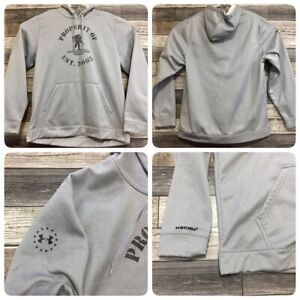 Under Armour Loose Wounded Warrior Project Hoodie Men's XL Gray (C5) EUC!