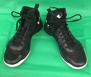 Under Armour Men's Micro G Lite Basketball Shoes BlackWhite Clutch Fit 10M