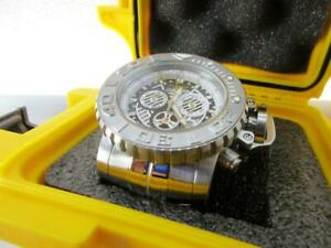 Invicta 70MM  Sea Hunter Swiss Chrono Gen III 18824 Silver tone