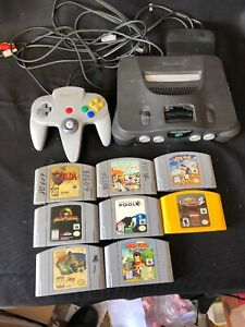 Nintendo 64 N64 System Console With Games See Disc!