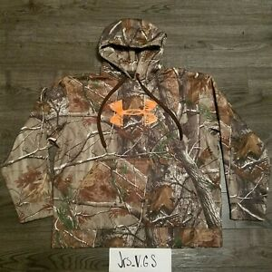 UNDER ARMOUR REALTREE Aviano Italia Hoodie Mens XL pullover camo hunting Limited $49.95