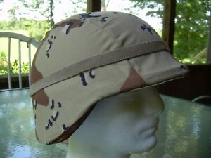 PASGT Cat Eyes Band & Helmet Camo Cover, Gulf Desert chocolate chip M/L, nos