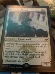 MTG Magic Mythic LP Light Play Monastery Mentor  FRF Fate Reforged
