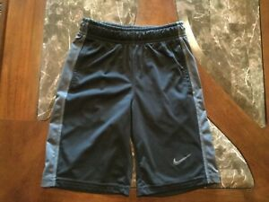 Nike black boys shorts size xs (77x)  sport polyester material dry fit
