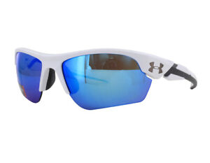 NEW Under Armour Youth Sunglasses Windup Shiny White Blue 8600096-100961