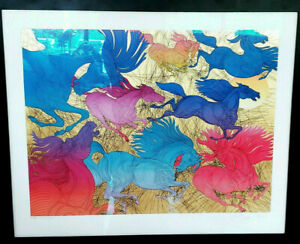 MAGNIFICENT! FRAMED GUILLAUME AZOULAY LITHOGRAPH