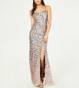 Adrianna Papell Beaded Long Gown MSRP $369 Size 2 # 4NA 215 Blm $32.99