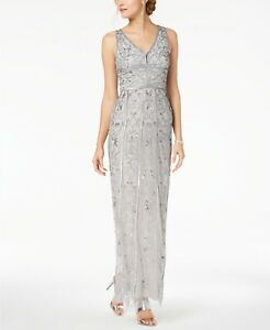 Adrianna Papell Beaded Gown $349 Size 16 # 4NB 188 Blm $41.24