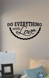 Do everything with love vinyl wall art decal sticker home house family inspire