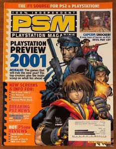 PSM Playstation Magazine #41!! 2001 PREVIEW ISSUE!! Arthur Adams Cover!! RARE!!