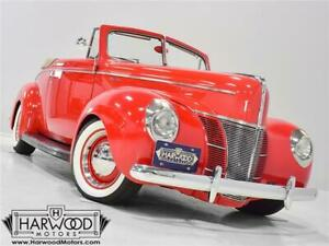 1940 Ford Deluxe Convertible Coupe -- 1940 Ford Deluxe Convertible Coupe  22206 Miles Bright Red  350 cubic inch V8 3-