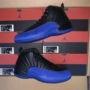 2019 Nike Air Jordan Retro 12 XII Black Game Royal 130690-014 GS