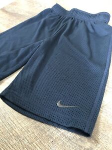 Nike Dry Fit Basketball Athletic Shorts Boys Size Small Navy Blue