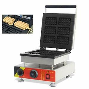 Electric Rectangle Cake Maker Oven Waffle Pan Kitchen Baker Machine Non-Stick