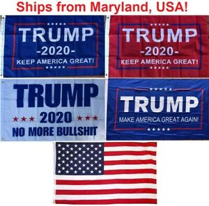 2#x27; x 3#x27; Trump Flag 2020 Keep America Great No More Bullshit Small Boat Flag