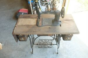 antique sewing machine amp; table stand $99.00