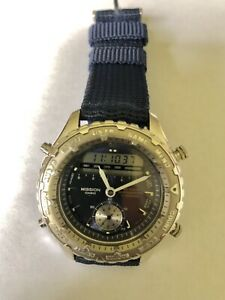 Vintage Mens Casio Mission Analog&Digital Chronograph Watch MIS-103 Military