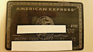 Genuine Real American Express AMEX CENTURION Black Card Excellent Cond Expired