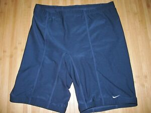 NIKE Shorts COMPRESSION Size XL Polyester Spandex RUNNING Navy Blue