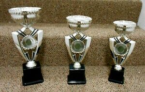 1st 2nd and 3rd Place Cup Trophies Includes Text Logo New