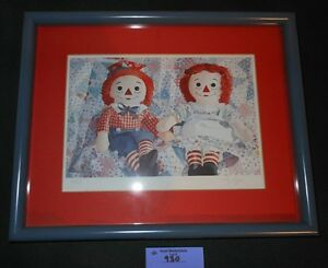 Liz Rogers OLD FRIENDS Raggedy Ann amp; Andy Signed and Numbered $42.00