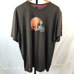 Nike Dri-Fit Cleveland Browns shirt XL athletic football NFL cancer ribbon