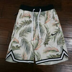 NIKE MENS DRI-FIT DNA FLORAL BASKETBALL SHORTS Size Small AR1321 110 Ivory