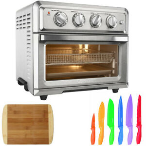 Cuisinart Convection Toaster Oven with Multicolored Knife Set & Cutting Board
