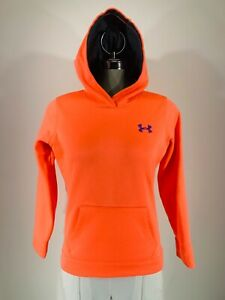 Under Armour Loose Hoodie Youth Medium YMD -  Girls Neon Coral