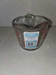 NEW ANCHOR HOCKING 2 CUP / 1 PINT MEASURING CUP RED LETTER 16 OZ
