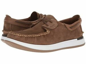 Sperry Top Sider Mens Caspian Leather Boat Shoes Suede Tan STS17195 $49.95