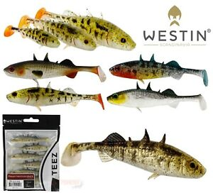 Westin Fishing Lures NEW 9cm STANLEY THE STICKLEBACK Shad Tail 55cm 75cm Shad