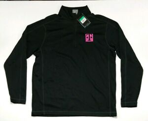 Nike Golf Dri Fit 244610 Sphere Dry Cover-Up 14 zip black XL T MOBILE embroider